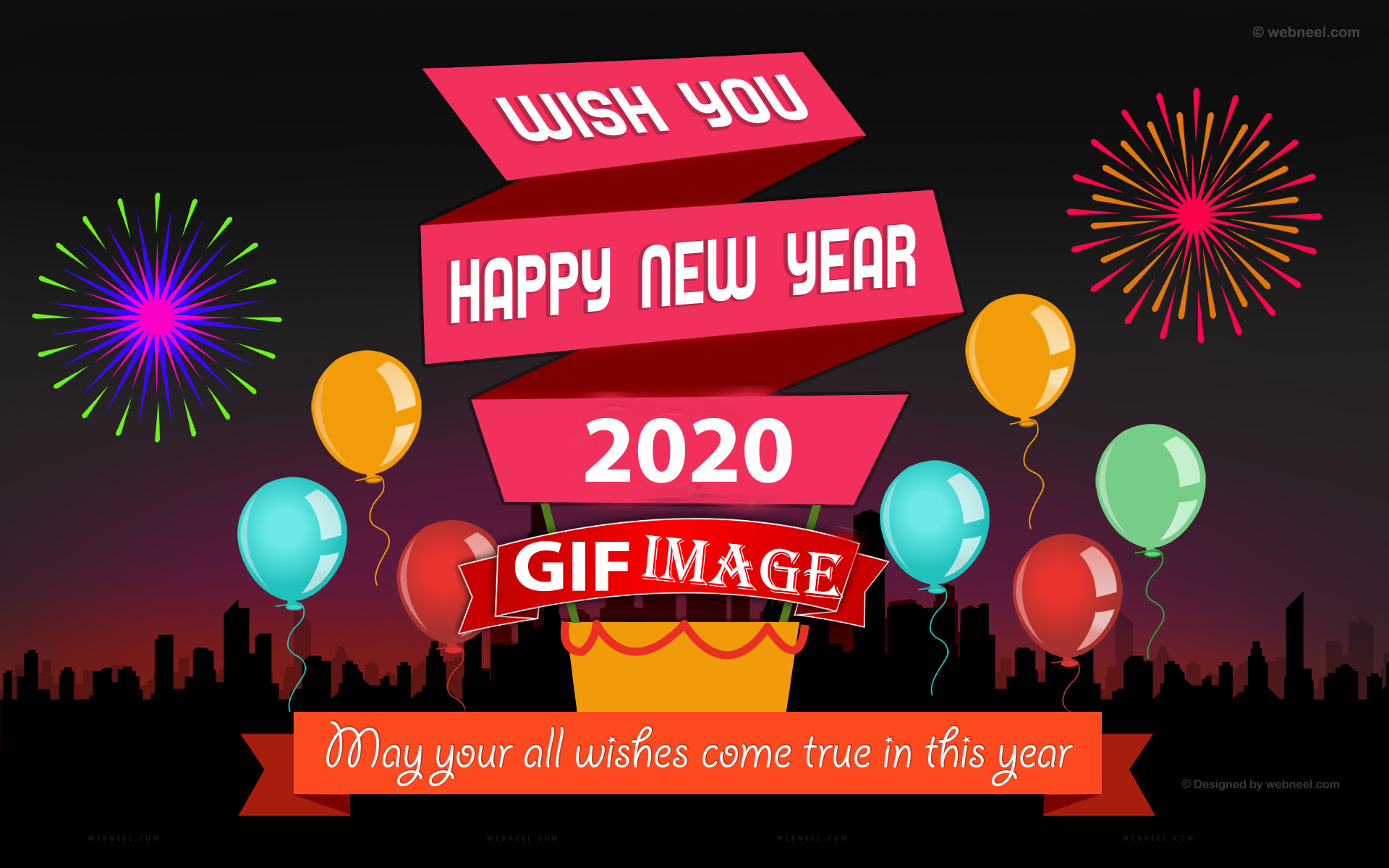 Happy New Year 2020 Gifs Animation Free Download Wish Event