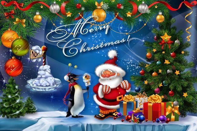 Christmas tree santa clause